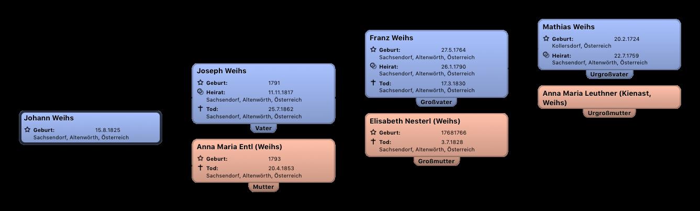 Ahnentafel Johann Weihs Kopie