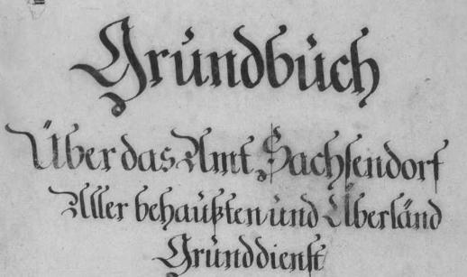 Titel Grundbuch Sachsensdorf, NIederösterreich