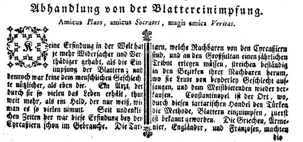 1768 Auzug Wiener Zeitung 1