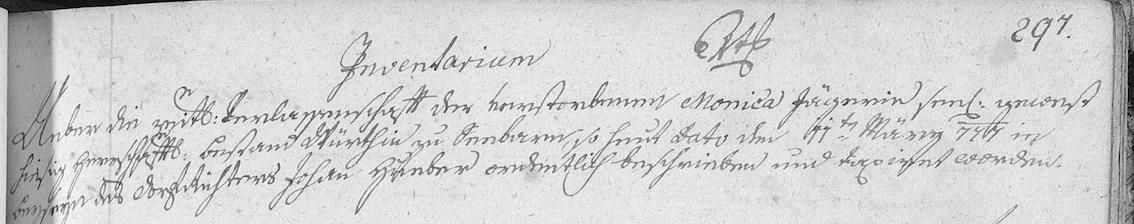 1777 Inventarium Monica Jäger 1