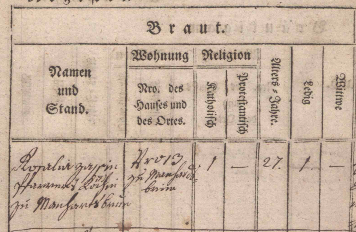 1784 Zapp Rosalia Hochzeit